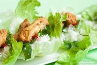 Receta rollitos de lechuga con arroz y pollo
