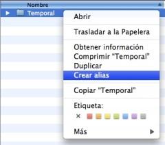 crecion de alias de archivos o carpetas