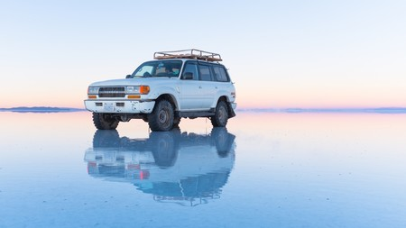 Reflection On The Salar De Uyuni Bolivia