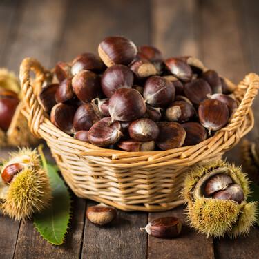 Disfruta de la temporada de castañas, el fruto seco con menos calorías: propiedades, beneficios y recetas para cocinarlas