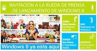 25 de Octubre, rueda de prensa y evento en Madrid por el lanzamiento de Windows 8