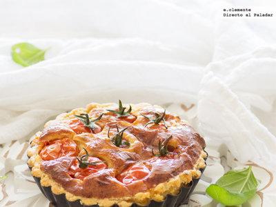 Miniquichés ligeras de tomate cherry y parmesano. Receta