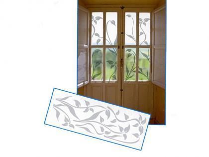Adhesivos esmerilados para cristales y esquinas especiales - Cristales decorados para puertas ...