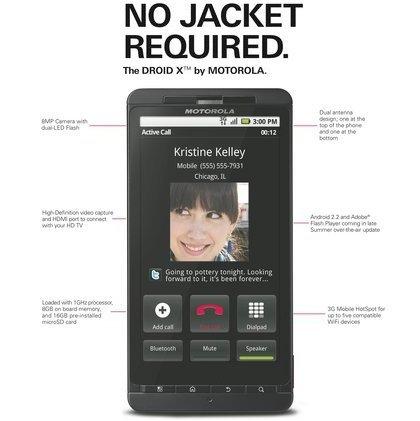 Motorola Droid X y Droid 2 cerca de llegar a Europa, y el Droid original se actualizará a Froyo