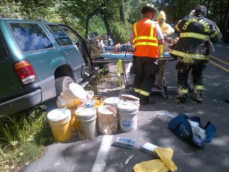 Ford Explorer Accidente de Pintura