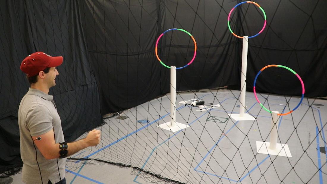 El MIT crea un sistema para controlar drones por gestos a través de un wearable en el brazo que detecta el movimiento