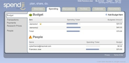 Spendji, planea los gastos de las actividades en grupos de personas