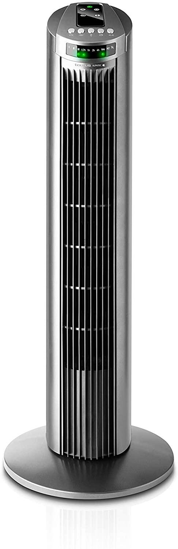 Taurus Babel RC - Ventilador de torre con control remoto, 3 velocidades, 45W, color gris [Clase de eficiencia energética A]