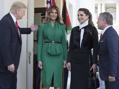 Rania de Jordania y Melania Trump: duelo de estilo en la Casa Blanca