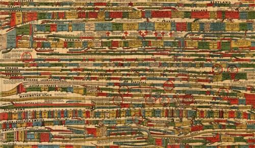 9 antiguos y flipantes cronogramas con toda la historia de la humanidad