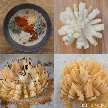 Pétalos de cebolla crujiente - 2