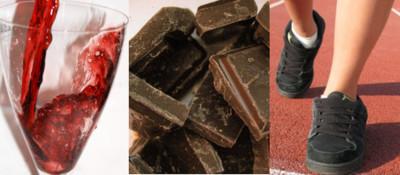 Ejercicio, chocolate y vino tinto: la fórmula para retrasar el envejecimiento