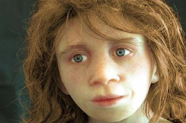un niño neandertal