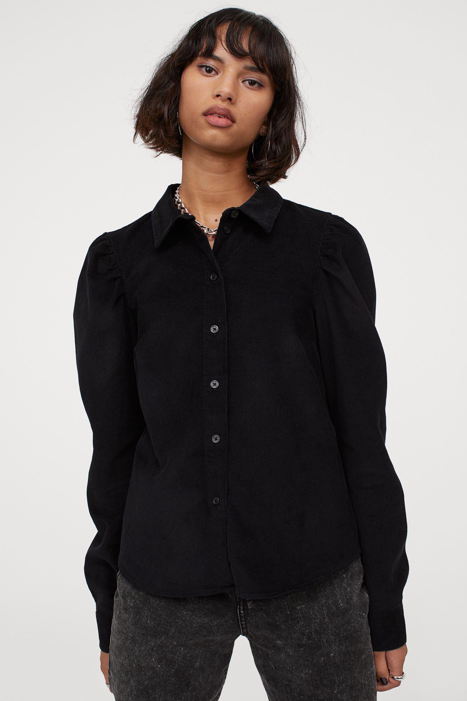 Camisa de pana con manga puffy