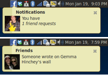 Facebook Notify: notificaciones de Facebook integradas en Gnome