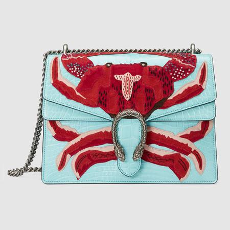 400235 Ev4fn 3663 001 078 0000 Light Dionysus Embroidered Shoulder Bag