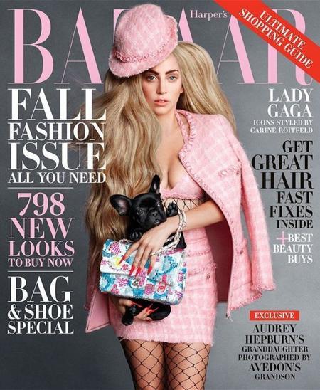 Lady Gaga, bien de cejas para la revista Harper's Bazaar