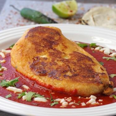 Chile relleno de quinoa con pepitas. Receta vegetariana fácil para este lunes sin carne