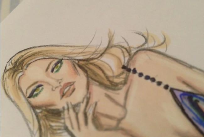 Rimmel London encarga al ilustrador Hayden Williams la campaña Idol Eyes protagoniada por Kate Moss