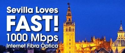 Adamo llevará a Sevilla  sus conexiones de fibra a 1.000 Mbps
