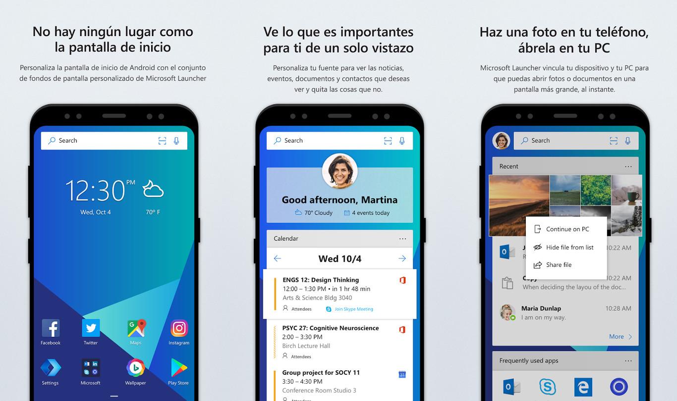 Microsoft Launcher llega a Android, el nuevo lanzador de
