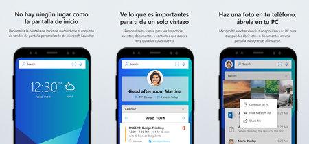 Microsoft Launcher llega a Android, el nuevo lanzador de aplicaciones que vincula tu móvil con Windows 10