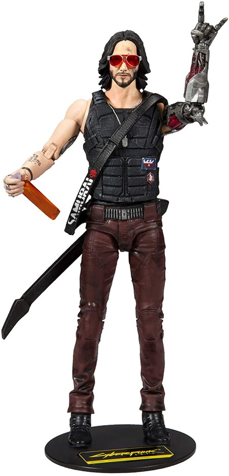 Figura de Cyberpunk 2077 de Keanu Reeves coleccionable