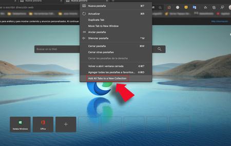Edge para Chromium ya permite añadir todas las pestañas abiertas a Colecciones