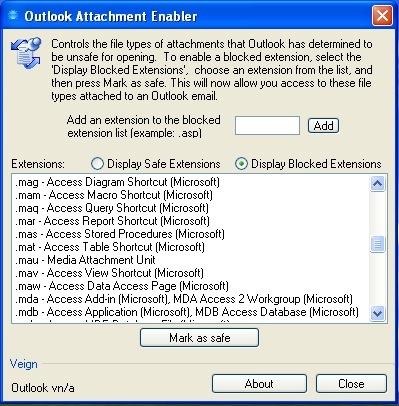 Gestiona los adjuntos bloqueados y permitidos en Outlook con Outlook Attachment Enabler