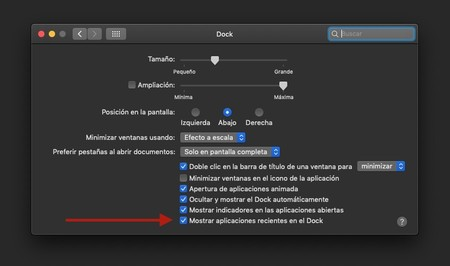 Preferencias Dock Macos Mojave