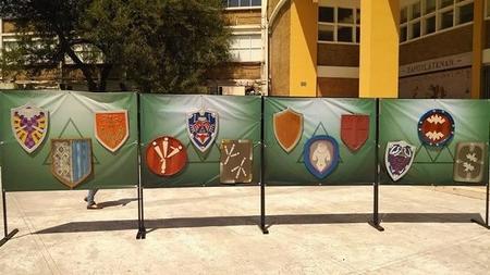 Escudos de Link a lo largo de su historia.
