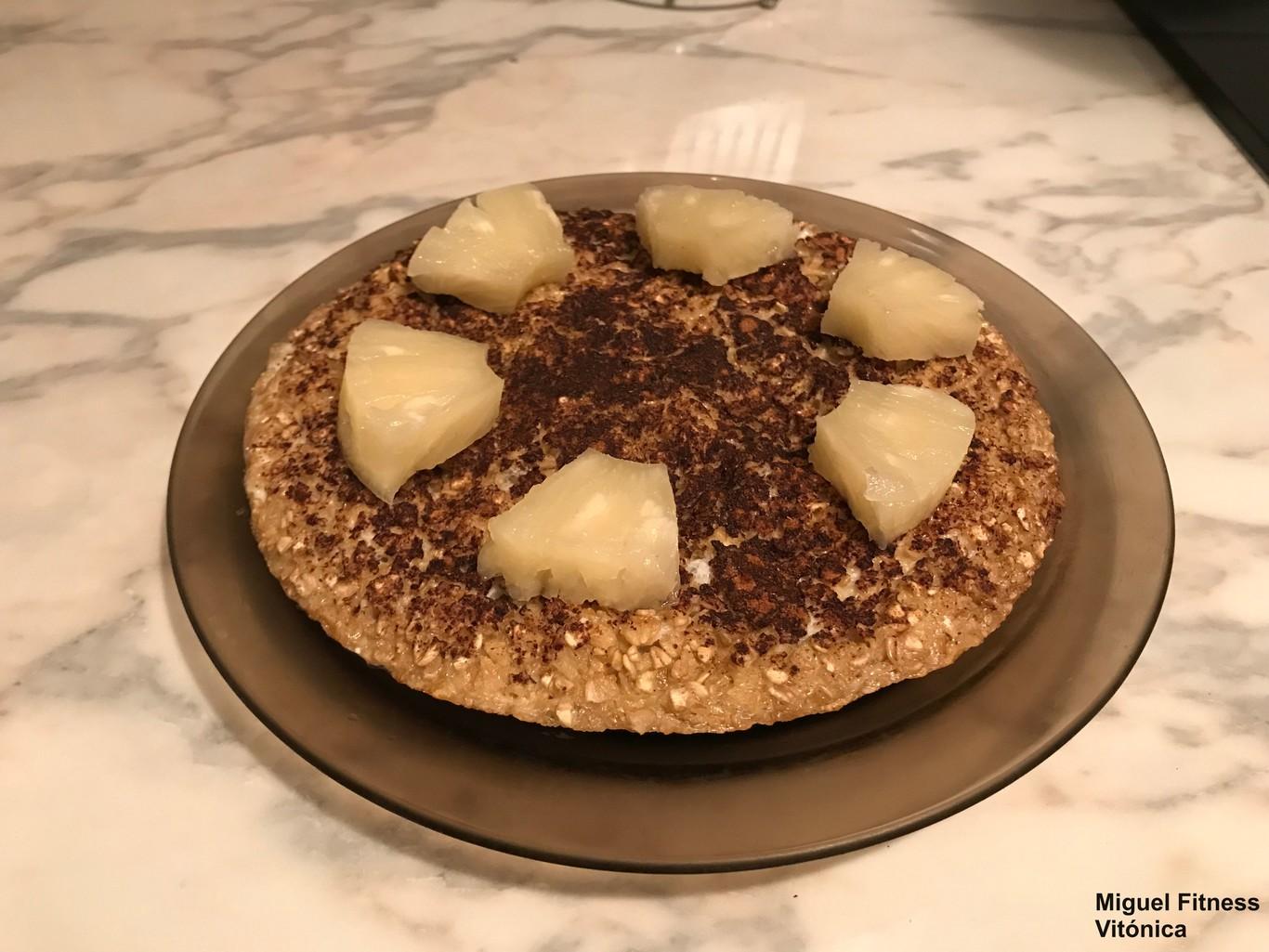 Tortilla De Clara De Huevo Avena Y Plátano Receta