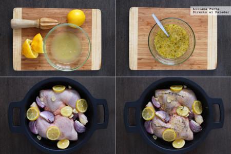 Pollo al horno con limón. Receta de cocina fácil, sencilla y deliciosa