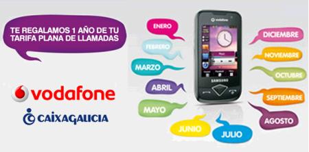 Tarifas Planas de voz Vodafone con cuota gratis por domiciliar la nómina en Caixa Galicia