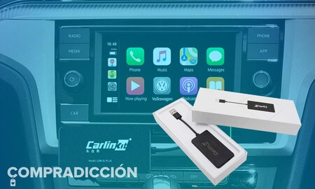 Olvídate del cable para usar CarPlay en tu coche: este adaptador te permite conectar tu iPhone por Bluetooth y está rebajado en 50 euros