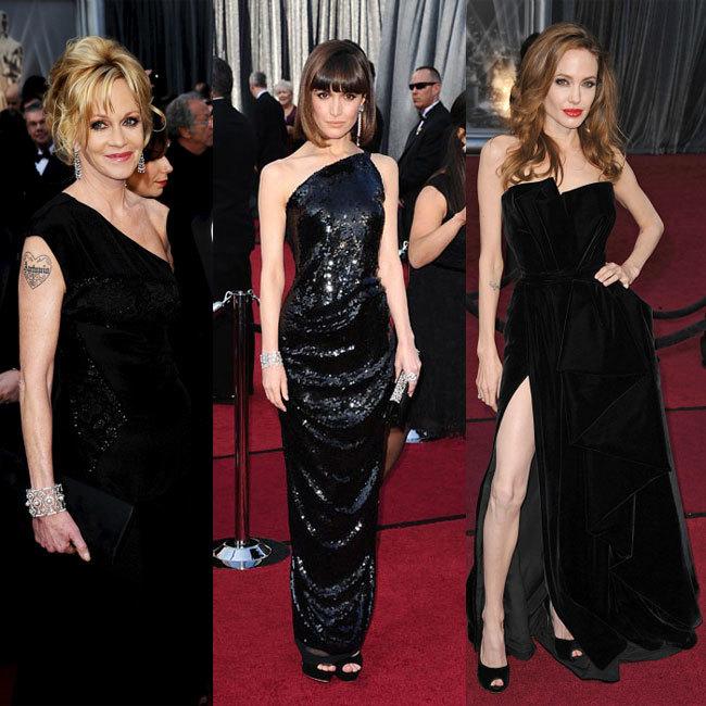 Vestidos negros Oscar 2012