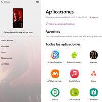 Cómo abrir aplicaciones Android en Windows 10 usando Tu Teléfono y un Samsung Galaxy