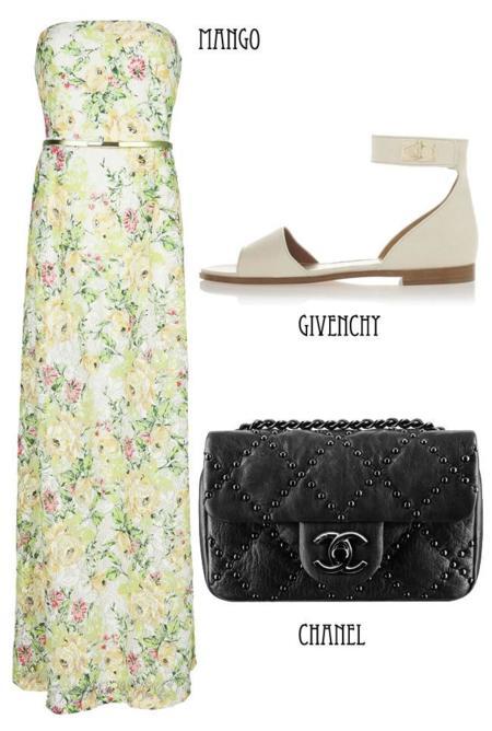 look flores vestido
