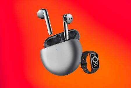 Si compras ya los nuevos FreeBuds 4 con una ambiciosa cancelación de ruido por 149 euros, te llevas la pulsera Huawei Band 6 de regalo