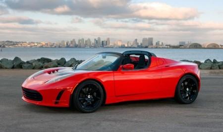 Tesla Roadster rojo 01