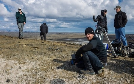 Darren Aronofsky en el rodaje de