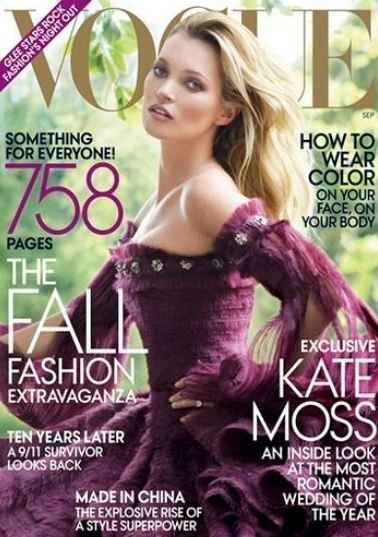 Kate Moss hasta en la sopa, quiero decir hasta en el 'september issue' de Vogue