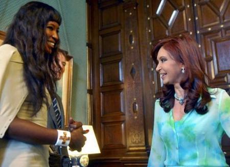 Naomi Campbell en la Casa Rosada