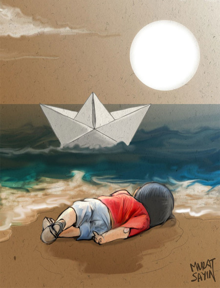 Syrian Boy Drowned Mediterranean Tragedy Artists Respond Aylan Kurdi 4 700