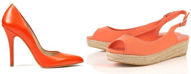 Zapatos Zara naranjas