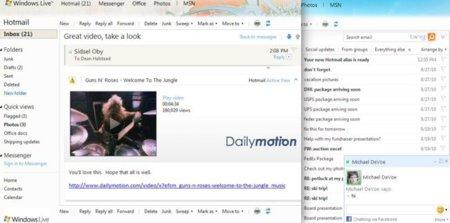 Hotmail se integra con chat de Facebook, añade subcarpetas y permite 25MB de archivos adjuntos