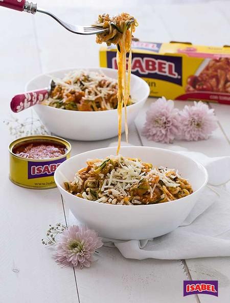 Espaguetis Calabacin Atun