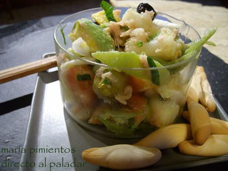 Receta de ensalada de patatas con naranja