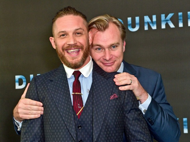 Nolan and Hardy at the premiere of Dunkirk