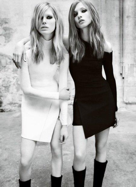 Versace, campaña Otoño-Invierno 2010/2011 con Iselin, Anna y Valerija: la necesidad de un buen bocata